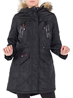 f2fb58b0c Amazon.com: CANADA WEATHER GEAR Women's Long Outerwear Jacket with ...