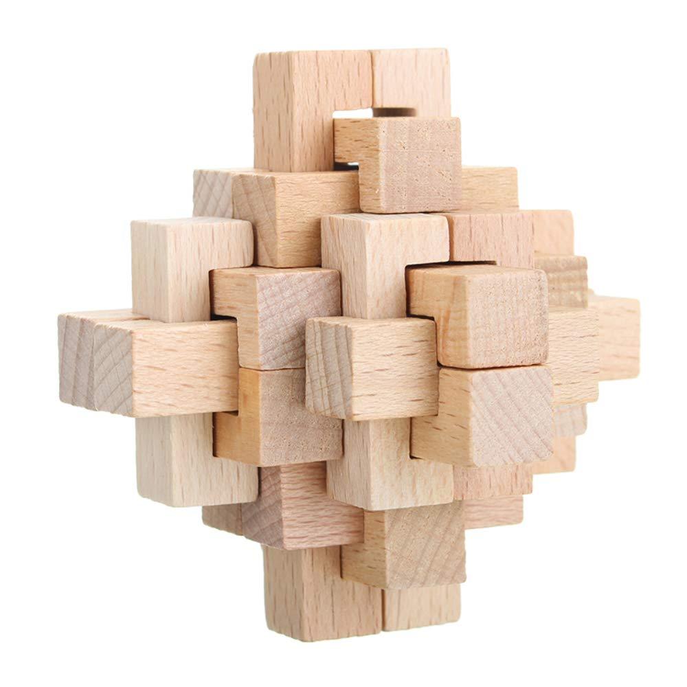 Kong Ming Lock Toys Children Kids Assembling Challenge IQ 3D Puzzle Cube W NEW