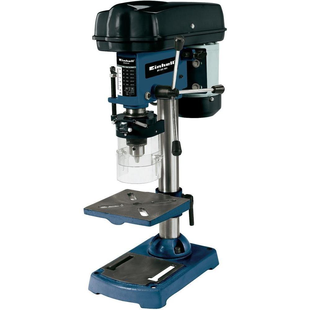 Einhell Säulenbohrmaschine BT-BD 401 (350 W, Bohr ؘ 1,5-13 mm, Bohrtiefe 50 mm, Drehzahlregelung, stufenlose Tischhöhenverstellung) Bohr ؘ 1 BTBD401