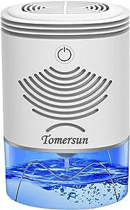 Dehumidifier TOMERSUN 35oz Small Dehumidifiers for home 2600 Cubic Feet(280 sq ft) Mini Dehumidifier for Home,Basement,Closet,RV,Bedroom,Bathroom,Kitchen