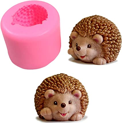 "/""Hedgehog/"" silicone mold for soap and candles making mould molds"