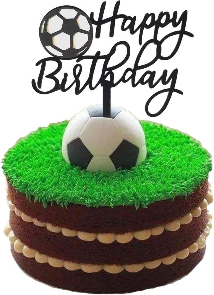 Ainuioi Soccer Cake Topper Football Cake Topper Sport Cake Decoration for Soccer Party Decorations Sports Party Decorations