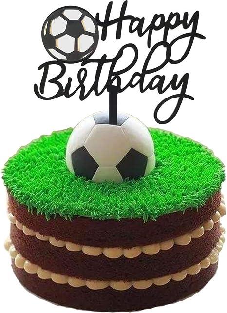 Wondrous Amazon Com Ainuioi Soccer Cake Topper Football Cake Topper Sport Personalised Birthday Cards Paralily Jamesorg