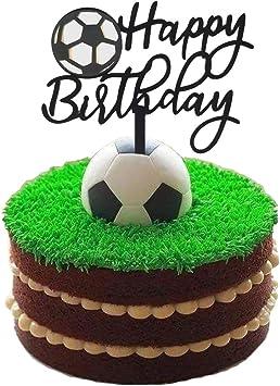 Amazon.com: Ainuioi - Decoración para tarta de fútbol: Toys ...