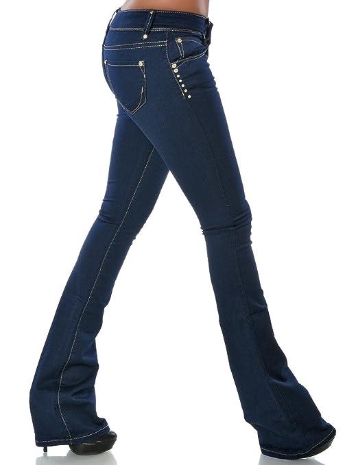 Damen Schlag Jeans Hose (Schlaghose) No 14211, Farbe:Blau;Größe:42 / XL:  Amazon.de: Bekleidung