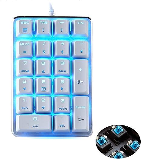 UrChoiceLtd® Numérique Clavier Magicforce Blue Switch