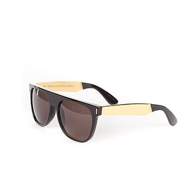 5dd1ed0a9621 RETROSUPERFUTURE Flat Top Francis Black/Gold Large Sunglasses SUPER-NIM:  Amazon.co.uk: Clothing
