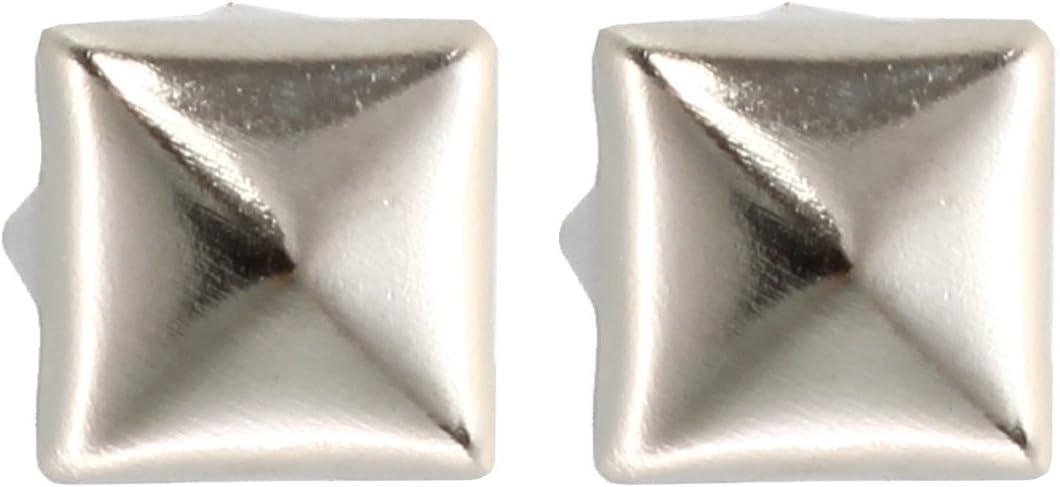 Senmubery 200 Kupfer 6mm Silber Pyramidennieten Pyramiden Nieten Ziernieten Deko.