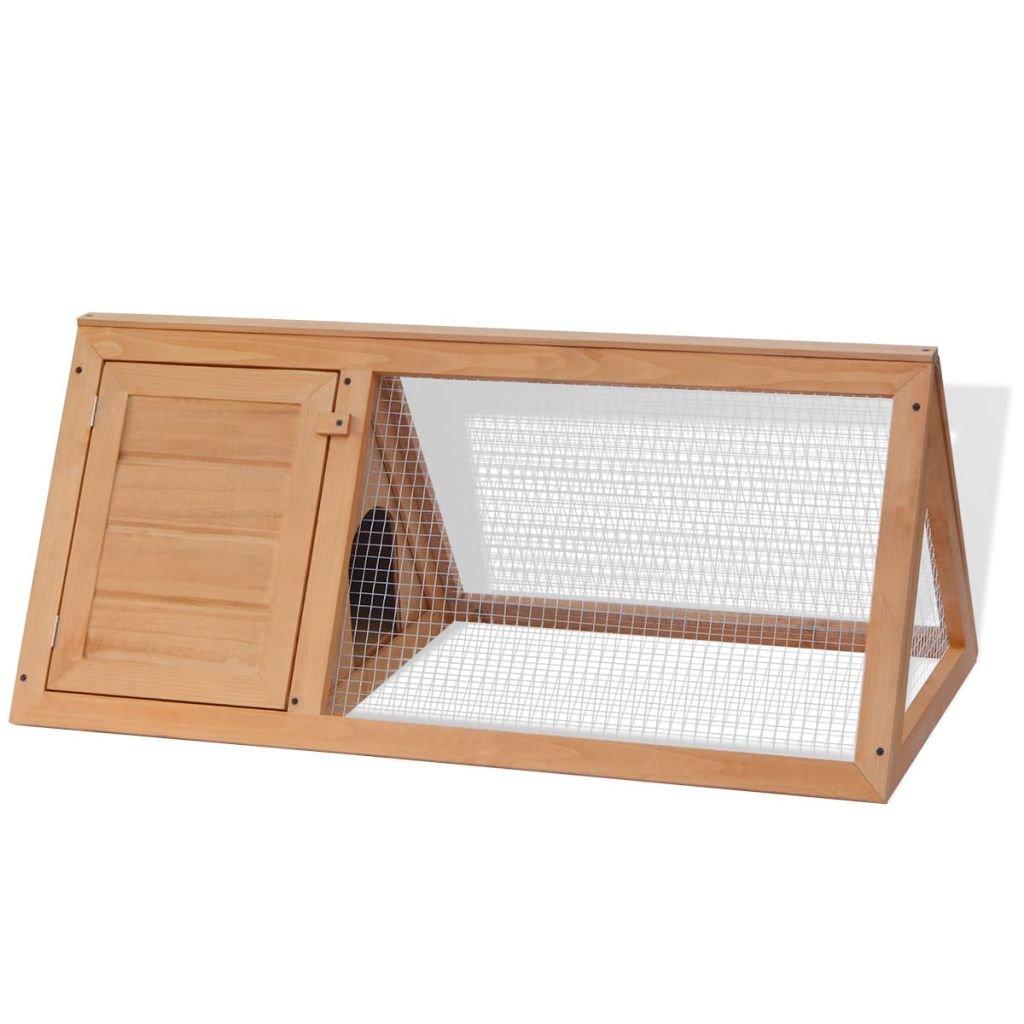 Festnight Animal Rabbit Cage Bunny Hutch Outdoor Run, 38.6'' x 19.7'' x 16.1'', Wood