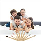 Toothbrushes Bamboo soft bristles Toothbrushes kids adults Bamboo Tooth brush Biodegradable Eco-Friendly Natural Bamboo Charcoal Toothbrush travel kit