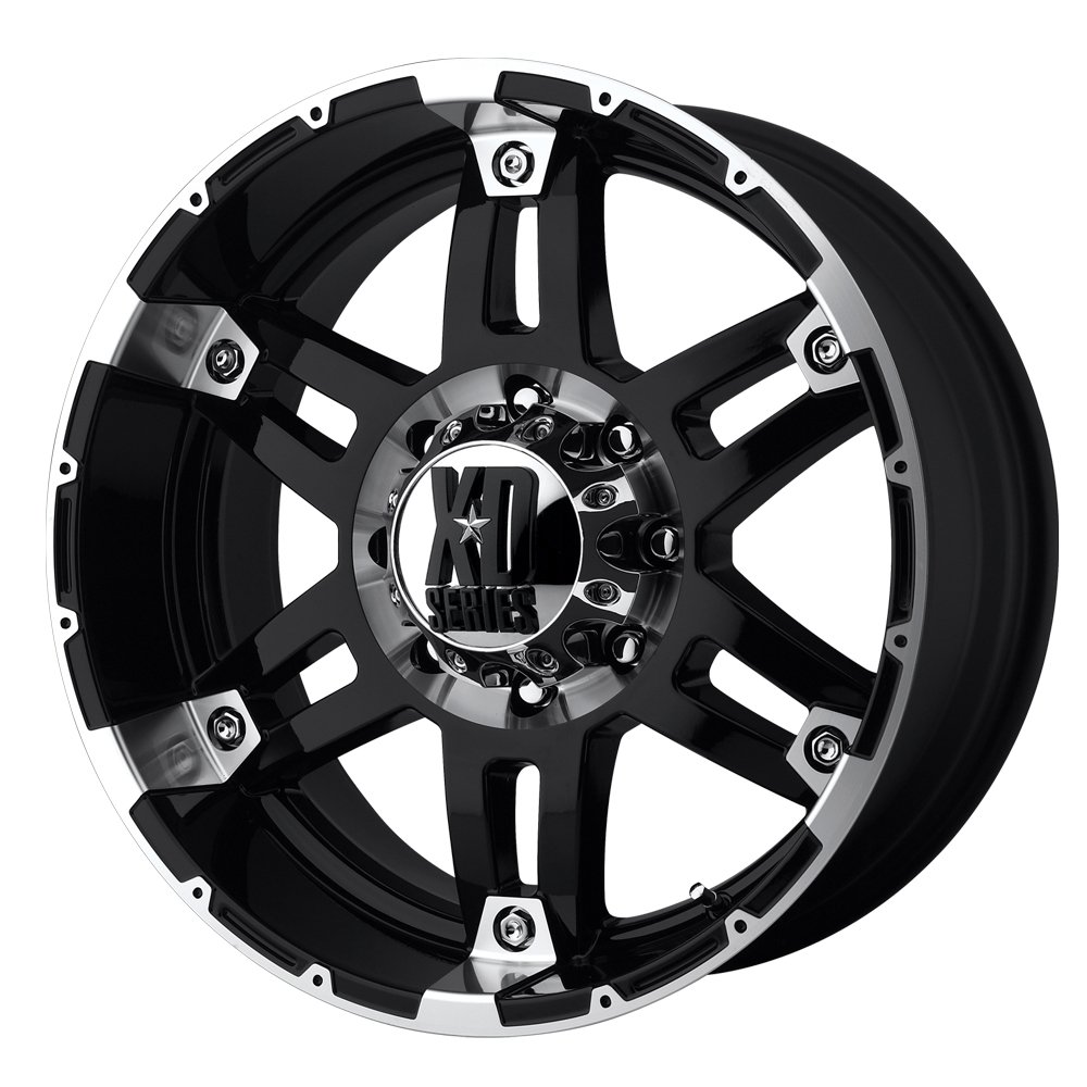 XD Series by KMC Wheels XD797 Spy Gloss Black Wheel With Machined Face (18x9''/5x135mm, -12mm offset)
