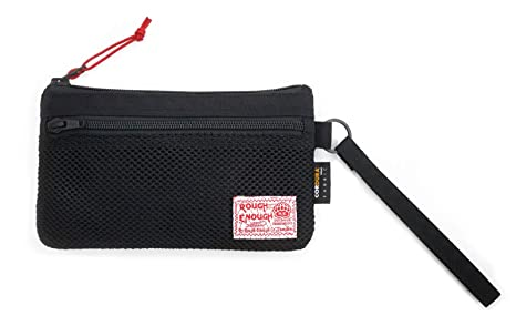 Rough suficiente Cordura multifunción pequeña bolsa soporte organizador de muñeca bolso cartera con cremallera compartimento de ...