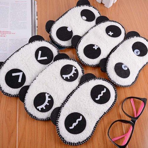 Man Woman Funny Panda Heart Cotton Sleep Sleeping Eye Mask Patch Shades + Ice Bag (Color randomly send) (1Pcs)
