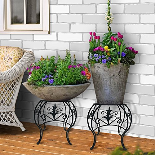 Amagabeli Metal Potted Plant Stand 10 Inch Rustproof