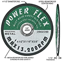 "4 1/2"" x 1/16"" x 5/8"" PREMIUM CUT OFF WHEELS - 10 PACK -, For Cutting all Ferrous Metals and Stainless Steel"