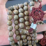 10mm*108 Buddha Green Sandalwood Prayer Beads Buddhist Sutra Bracelet