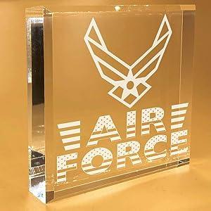 Air Force Gifts For Men | Women | Veteran | Boyfriend | MOM | DAD | Him | Desk Plate | Christmas | Paperweight | Keepsake