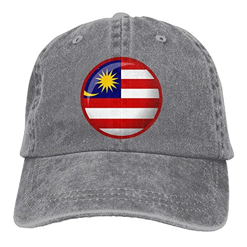 WKP0XKA Men and Women Cap Flag Of Malaysia Hat Snap-Back Hip-Hop Cap Baseball Hat Head-Wear Cotton Snapback Hats - Hat Beach Malaysia