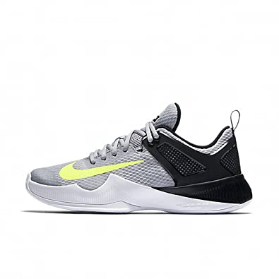 NIKE Womens Air Zoom Hyperace Shoe, Wolf Grey/Volt-Black, 6 B