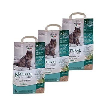 Marpet 3 Sacos Arena para Gatos Natural 100% Biodegradable - Natural: Amazon.es: Jardín