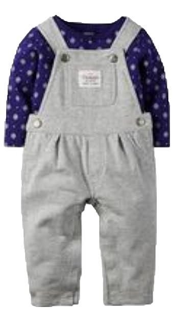 Amazon.com: De Carter bebé Niñas Floral Tee & overol de ...