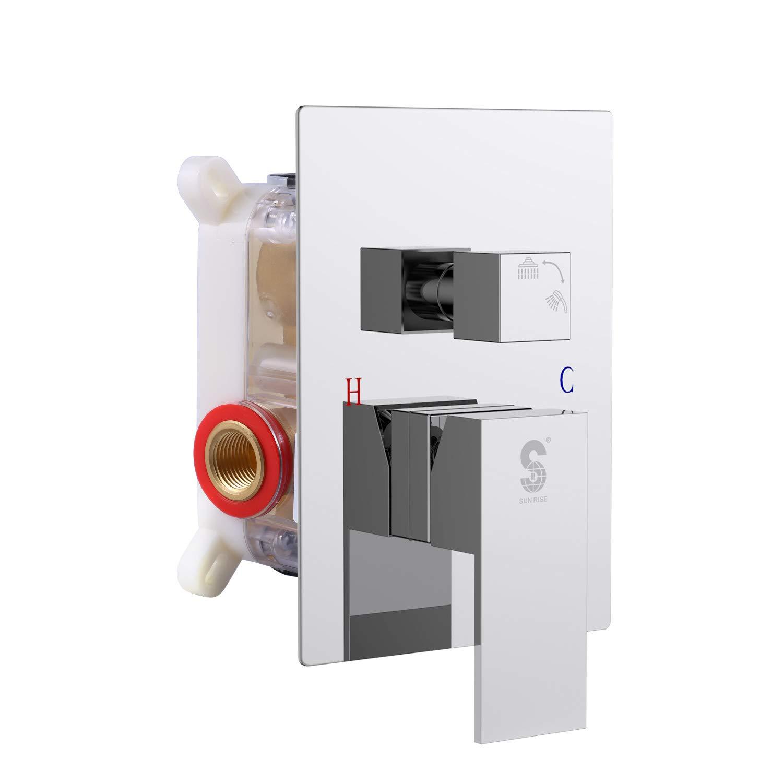 SR SUN RISE Square PressureBalancingShowerValve Control Polished Chrome SRSH-5044-K