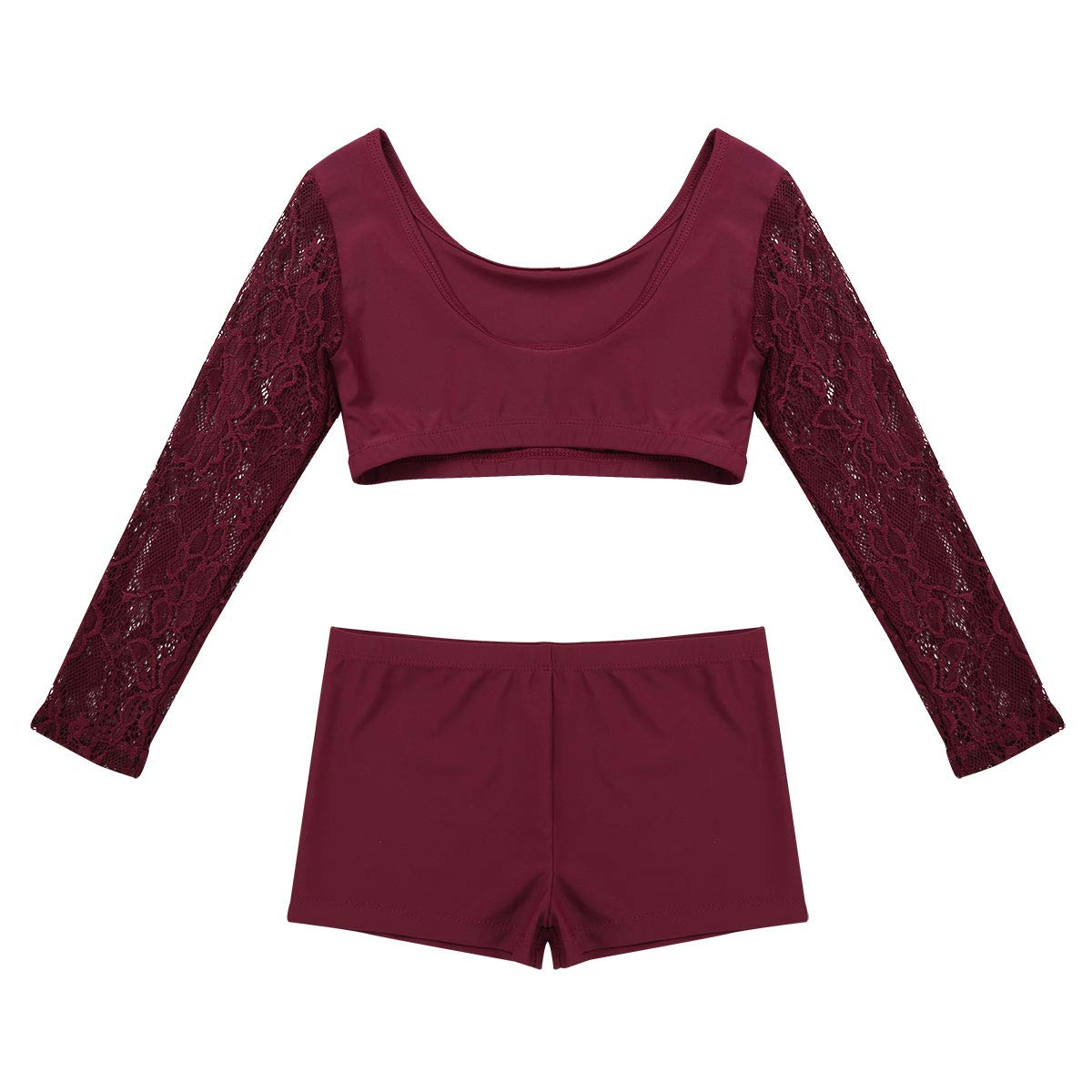 inlzdz Kids Girls 2PCS Tankini Sleeveless Racer Back Top with Booty Shorts Gymnastics Leotard Dancewear Sports Outfit