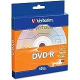 Verbatim DVD-R 4.7GB 16x Recordable Media Disc - 10 Disc Box, Blue/Orange - 97957