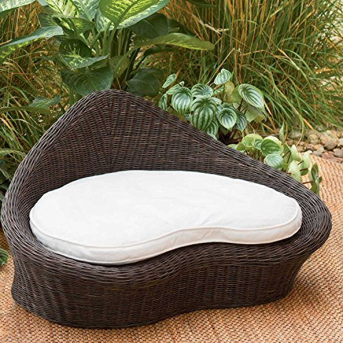 Rattan Meditation Chair with Thick Natural Cotton Meditation Cushion Pillow