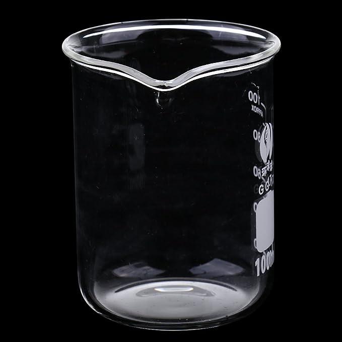Compra Baoblaze Vaso Graduado Vaso de Química de Laboratorio de Vidrio 10 ML - 2000 ML - 100 ML en Amazon.es