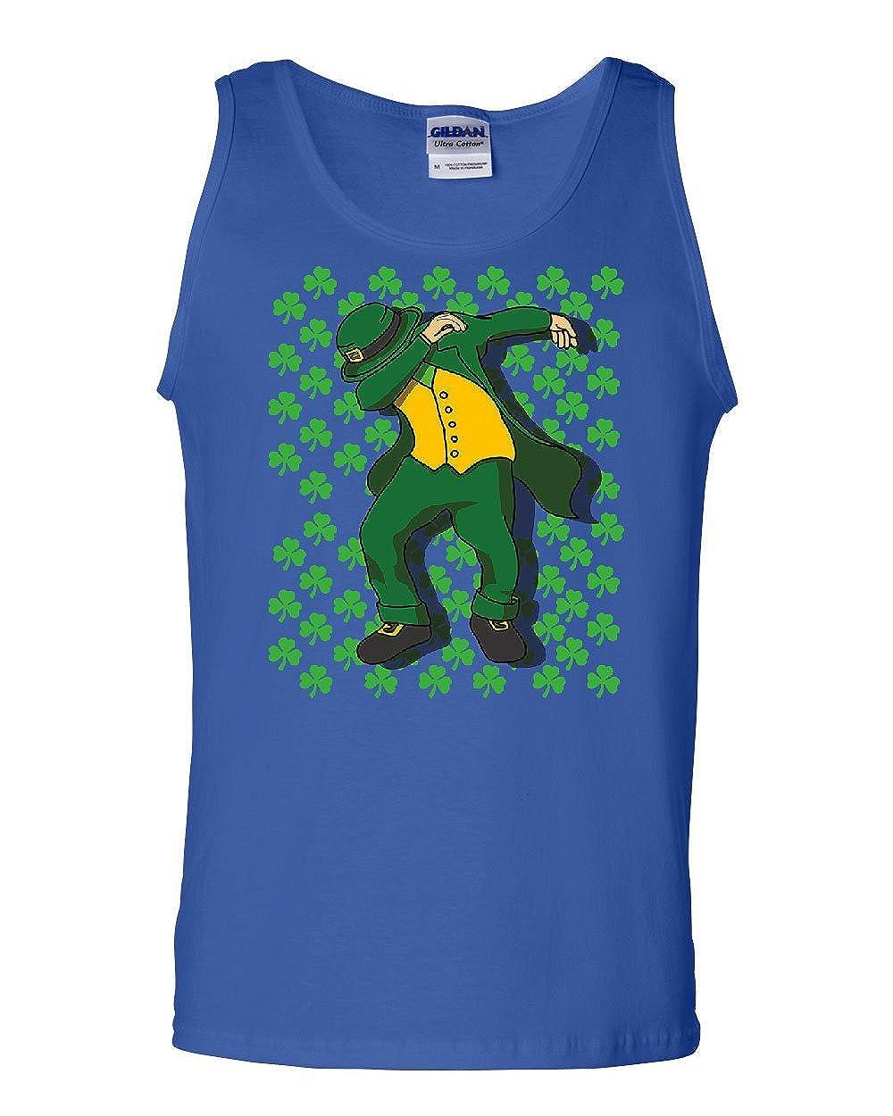 Tee Hunt ST Patricks Day DAB Tank Top Shamrock Dancing Leprechaun Beer Sleeveless