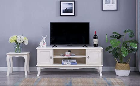 Credenza Con Ripiani : French style wood tv supporto per mobile con ripiani