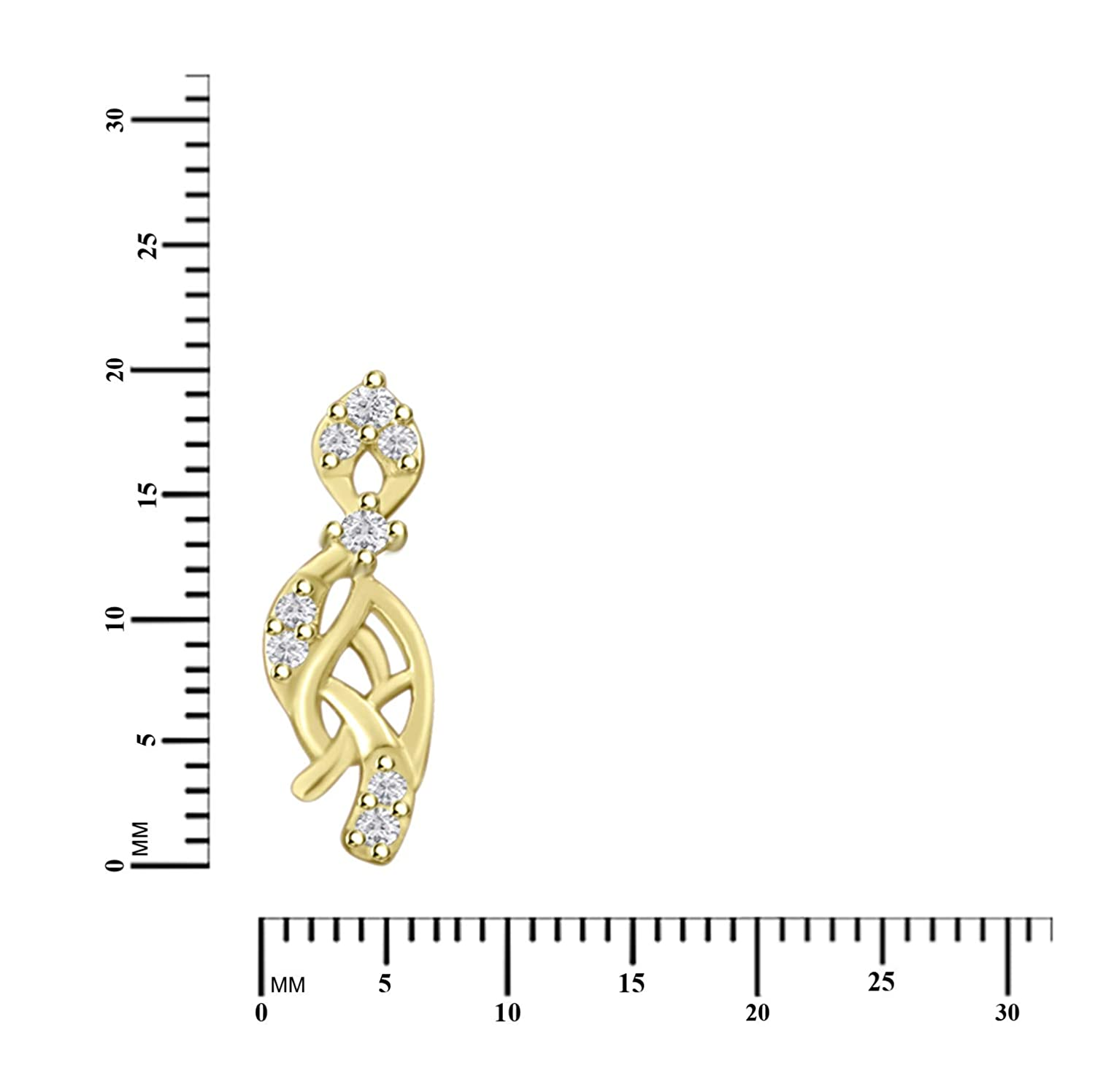 Round Cut Cubic Zirconia Trendy Stud Earrings for Women Girl in 14k Gold Plated