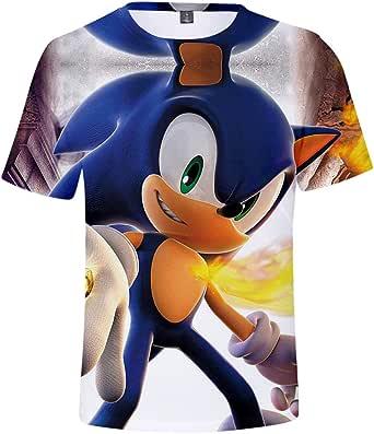 HAOSHENG Unisexo Camiseta Impresión 3D Tshirt Fanáticos Deportiva de Anime Manga Corta Tops de Anime Cosplay