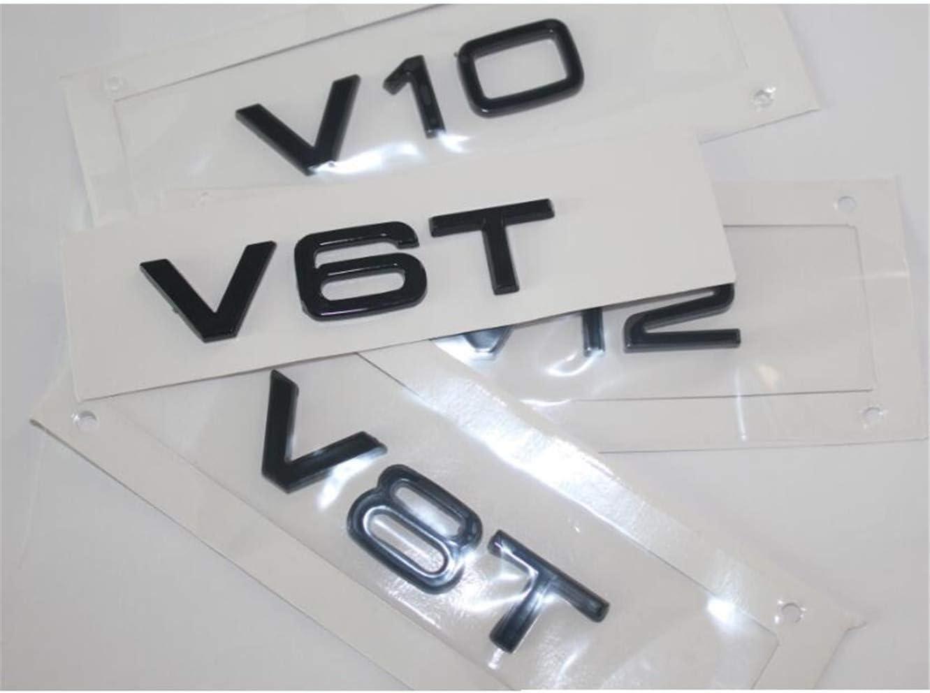 Glanz Schwarz Buchstaben V6 T V 8 t V 10 watt 12 Fender Abzeichen Embleme Emblem V10-2pcs