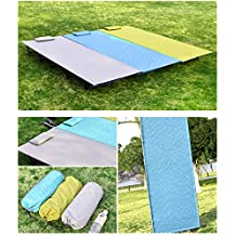 """Advanced 74"""" Ultralight Portable Military Folding Camping Bed Travel Cot Tent Aluminium Alloy Metal Frame,Anti-tear Thickened Waterproof Nylon Cloth,Max 242lbs,Comfortable,with Storage Bag and Pillow"""