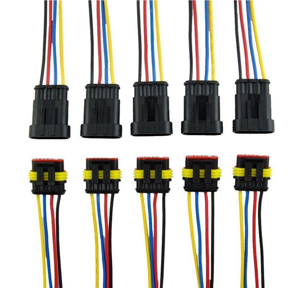 Voiture Fiche de connecteur /électrique /étanche avec fil AWG Marine