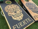 Sugar Skulls Custom Cornhole Board Set