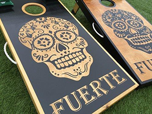Sugar Skulls Custom Cornhole Board Set by West Georgia Cornhole
