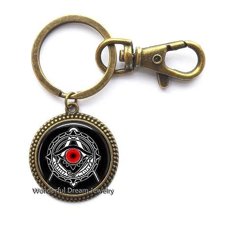 Amazon.com: Llavero con llavero de Illuminati, diseño de ...