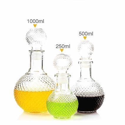DulceCasa Decantador Botella Jarra Copa Vidrio Cristal para Vino Bebidas Sake Cerveza Agua Elegante Patrón Cocodrilo