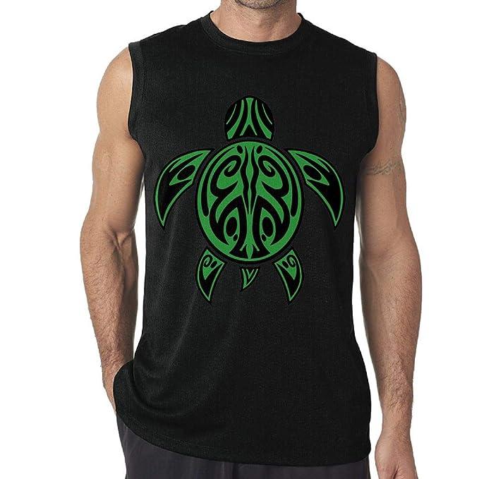 NRYDYMM Mens Tank Top Sea Turtle Tribal Tattoo Exercise Tank Bodybuilding Vest Sleeveless T Shirt