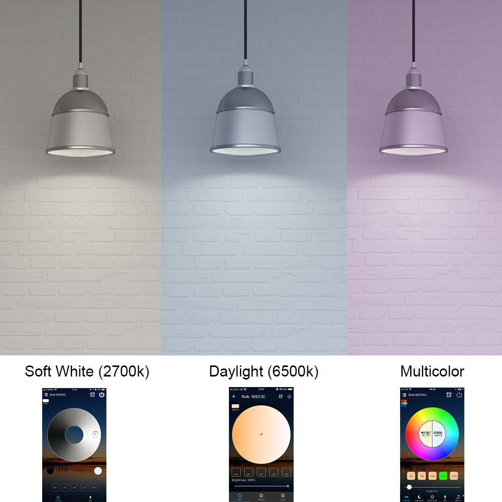 Magic Smart Led Rgbw 65w Lampe Wifi Beleuchtung Funktioniert Mit Philips Bulb 13 Watt 6500k Paket 3 Gratis 1 Amazon Echo Alexa Google Home