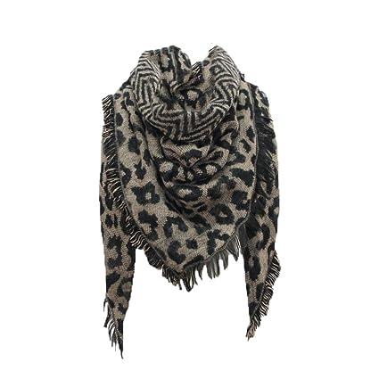 ed87920cc82bb Amazon.com: Ganenn Women Stylish Warm Blanket Scarf Leopard Print ...