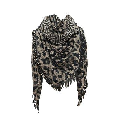Cebbay Foulard Femme Homme Châle,Écharpe Nouvelle Longue étole imprimée  léopard d hiver Chaud 335df8118d2