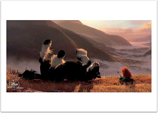 New Disney Store Brave Merida Limited Edition Lithograph Set Exclusive 4 Lithos