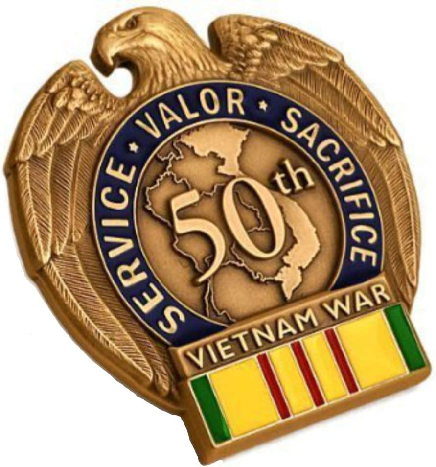Vietnam War 50th Anniversary In-Theater Veteran Commemorative Insignia
