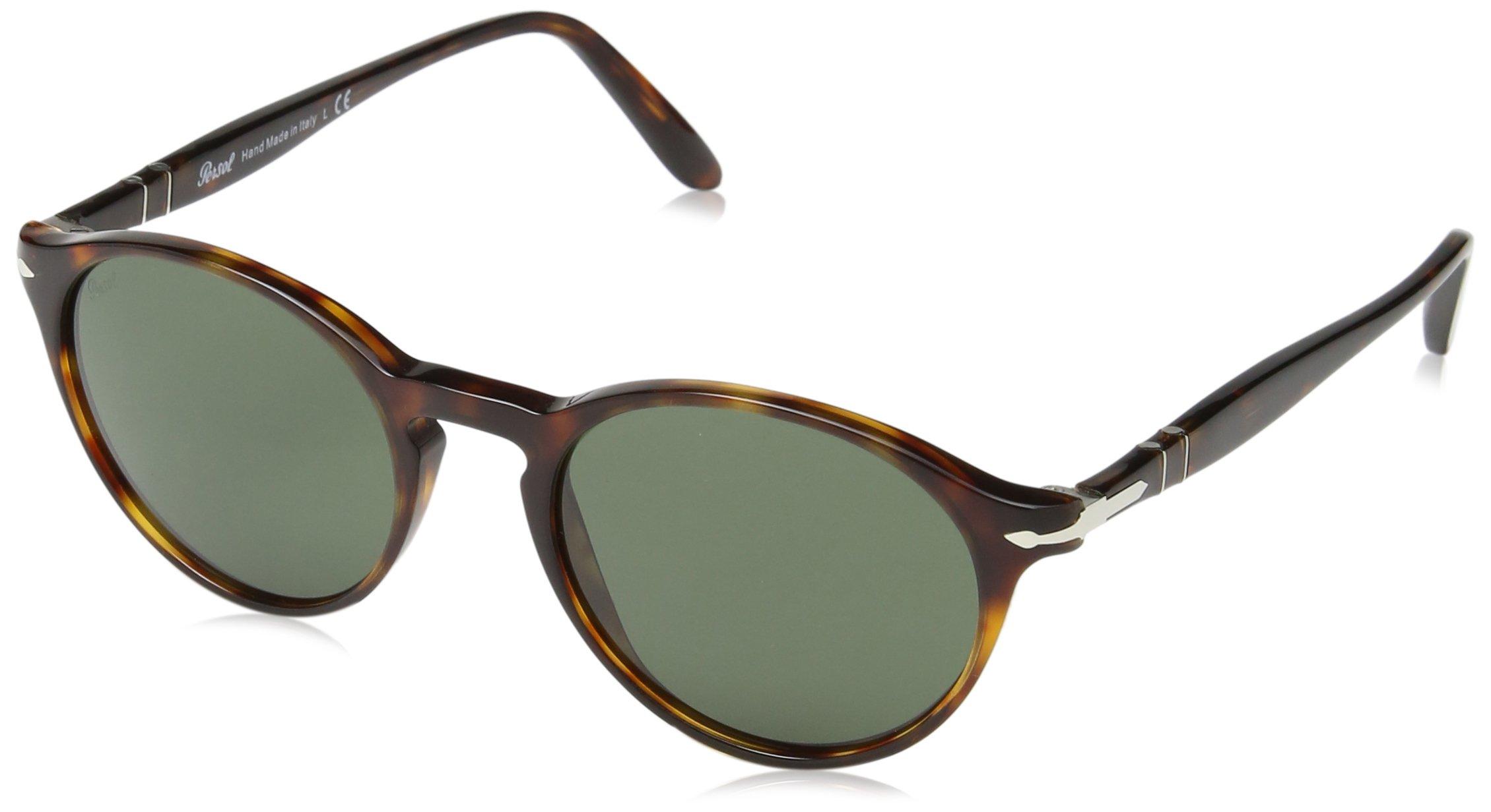 Persol Mens Sunglasses Tortoise/Green Acetate - Non-Polarized - 50mm