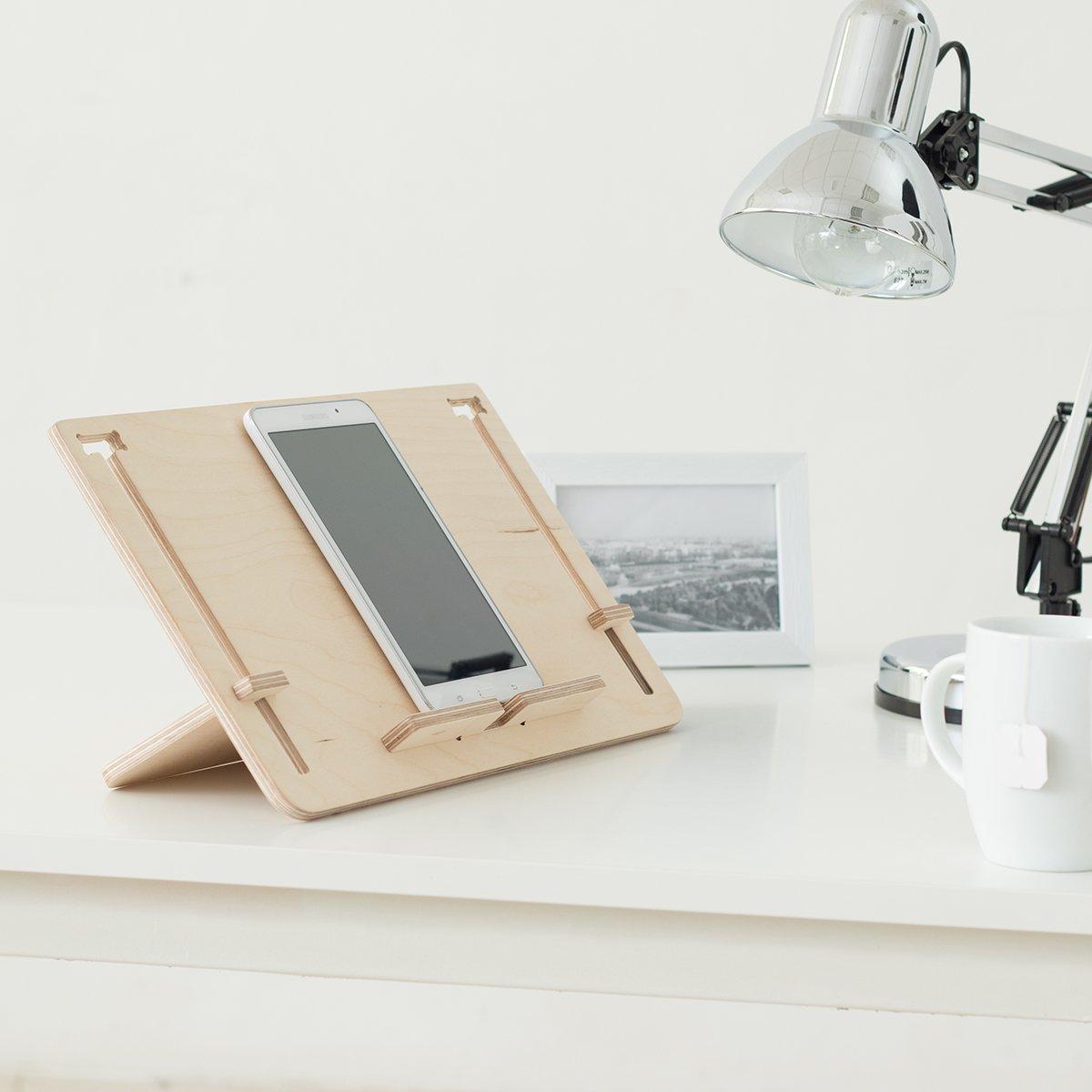 support pour tablettes, livres électroniques ou livres, en bois, convient uniquement aux inclinaisons, bureau, canapé, lit