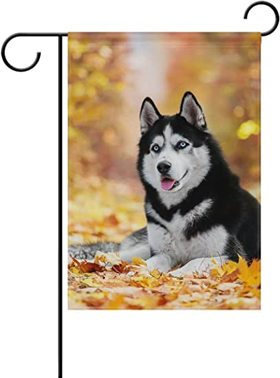 Siberian Husky Decorative Flag